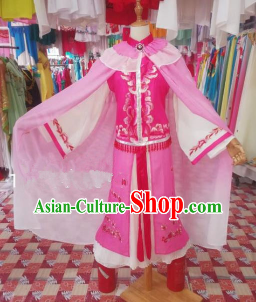 Chinese Traditional Beijing Opera Actress Pink Dress Peking Opera Costume for Adults