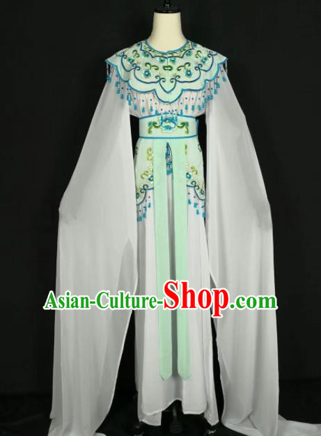 Chinese Traditional Beijing Opera Princess Light Green Dress Peking Opera Actress Costume for Adults