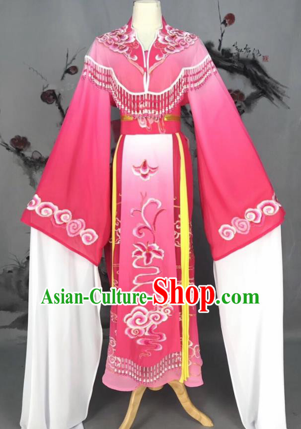 Chinese Traditional Beijing Opera Rosy Hanfu Dress Peking Opera Actress Costume for Rich