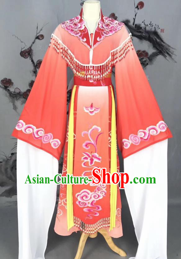 Chinese Traditional Beijing Opera Red Hanfu Dress Peking Opera Actress Costume for Rich