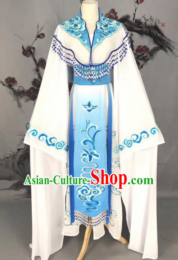 Chinese Traditional Beijing Opera White Hanfu Dress Peking Opera Actress Costume for Rich