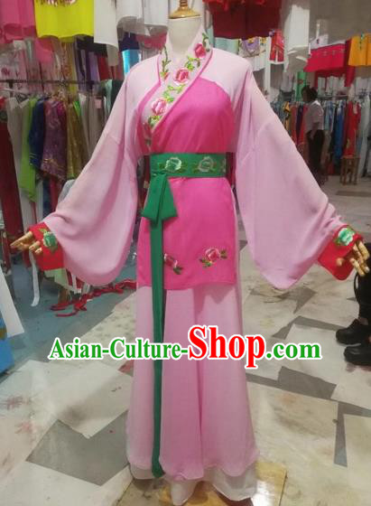 Chinese Traditional Beijing Opera Young Lady Dress Peking Opera Maidservants Costumes for Adults