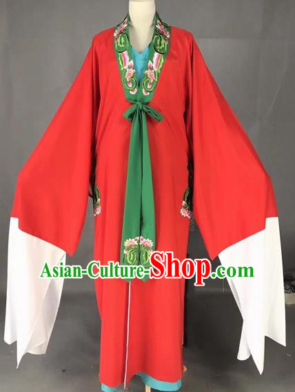 Chinese Traditional Beijing Opera Scholar Costume Peking Opera Niche Red Robe for Adults