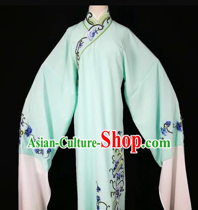 Chinese Traditional Beijing Opera Scholar Green Robe Peking Opera Niche Costume for Adults