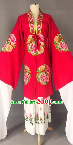Chinese Traditional Beijing Opera Princess Red Cloak Peking Opera Diva Costumes for Adults