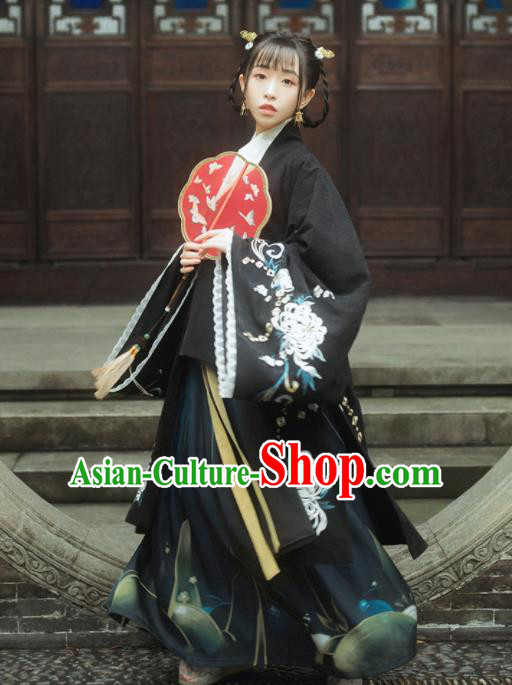 Traditional Chinese Ancient Palace Princess Hanfu Dress Ming Dynasty Women Historical Costumes Complete Set