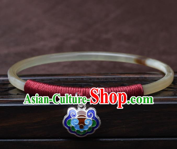 Chinese Traditional Jewelry Accessories National Hanfu Ox Horn Bracelet for Women