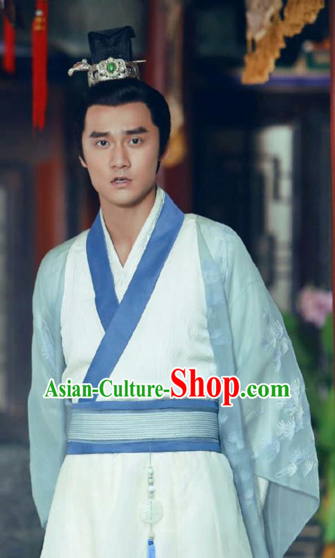 Traditional Chinese Ming Dynasty Royal Highness Hanfu Clothing Ancient Nobility Childe Replica Costumes for Men