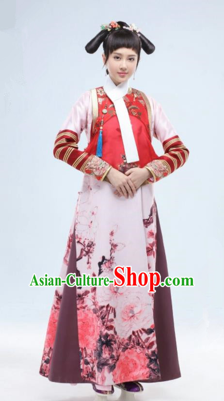 Drama Ruyi Royal Love in the Palace Chinese Ancient Qing Dynasty Manchu Princess Embroidered Costumes for Women