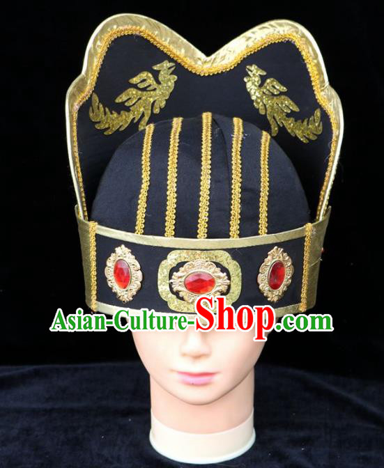 Traditional Chinese Beijing Opera Scholar Hair Accessories Peking Opera Niche Black Hat for Men