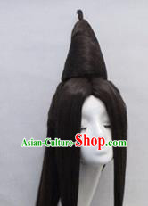 Chinese Ancient Cosplay Princess Wigs Traditional Chignon Handmade Wig Sheath