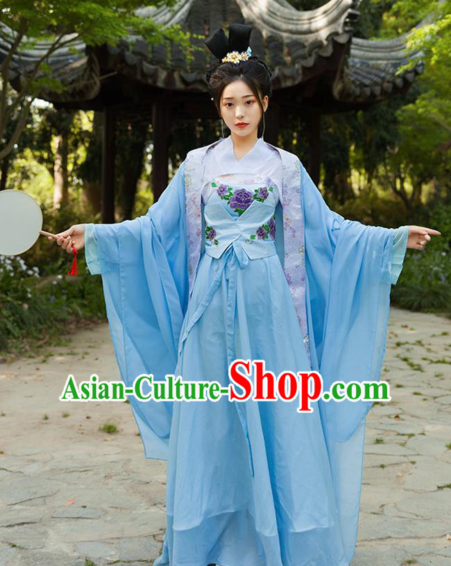 Traditional Chinese Northern and Southern Dynasties Princess Hanfu Dress Ancient Drama Peri Costumes for Women