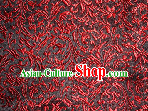 Asian Chinese Tang Suit Silk Fabric Brocade Material Traditional Red Palace Pattern Design Satin