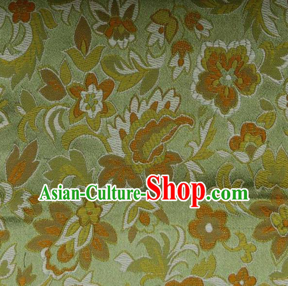 Asian Traditional Pattern Design Green Satin Material Chinese Tang Suit Brocade Silk Fabric