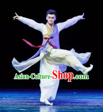 Chinese Traditional Classical Dance Costumes Drama Performance Hanfu Clothing for Men