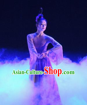 Chinese Traditional Classical Dance Costumes Umbrella Dance Stage Performance Dress for Women