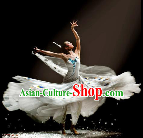 Chinese Traditional Dai Nationality Group Dance Costumes Classical Dance Stage Performance Dress for Women