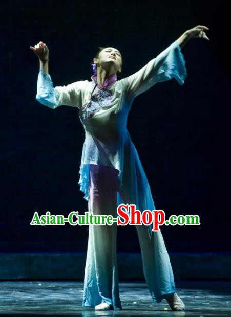 Chinese Traditional Classical Dance Costumes Stage Performance Fan Dance Clothing for Women