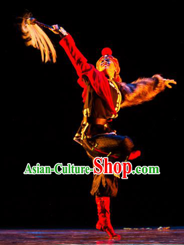 Chinese Traditional Classical Dance Costumes Drama Performance Dance Ethnic Clothing for Men