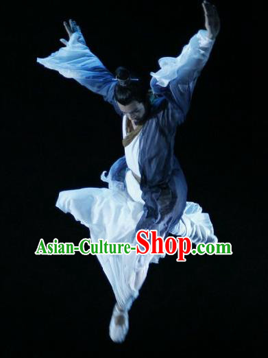 Chinese Traditional Classical Dance Costumes Drama Performance Single Dance Hanfu Clothing for Men