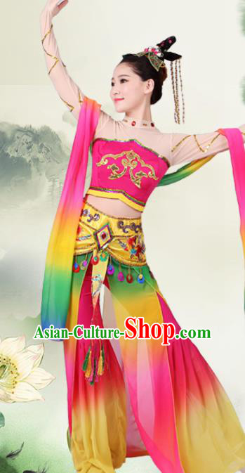 Chinese Traditional Classical Dance Costumes Stage Performance Apsaras Flying Dress for Women