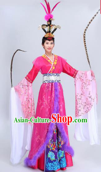 Chinese Traditional Classical Dance Costumes Han Dynasty Imperial Concubine Diau Charn Dance Dress for Women