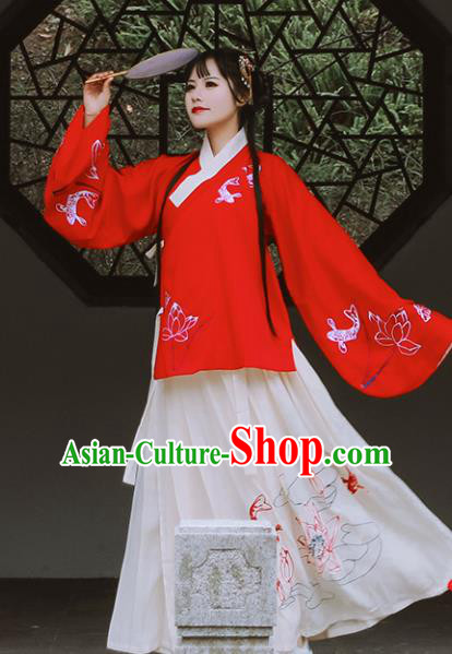 Traditional Chinese Ming Dynasty Aristocratic Lady Costumes Ancient Cosplay Princess Hanfu Dress for Women