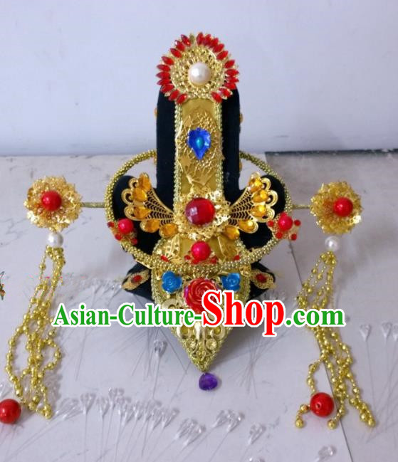 Chinese Ancient Queen Hair Accessories Qin Dynasty Empress Hairpins Headwear for Women