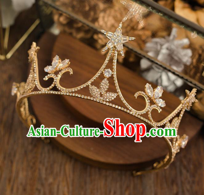Handmade Wedding Hair Accessories Top Grade Bride Crystal Royal Crown Headwear for Women
