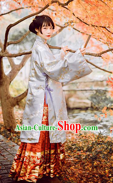 Chinese Traditional Ming Dynasty Historical Costumes Ancient Aristocratic Lady Hanfu Dress for Women
