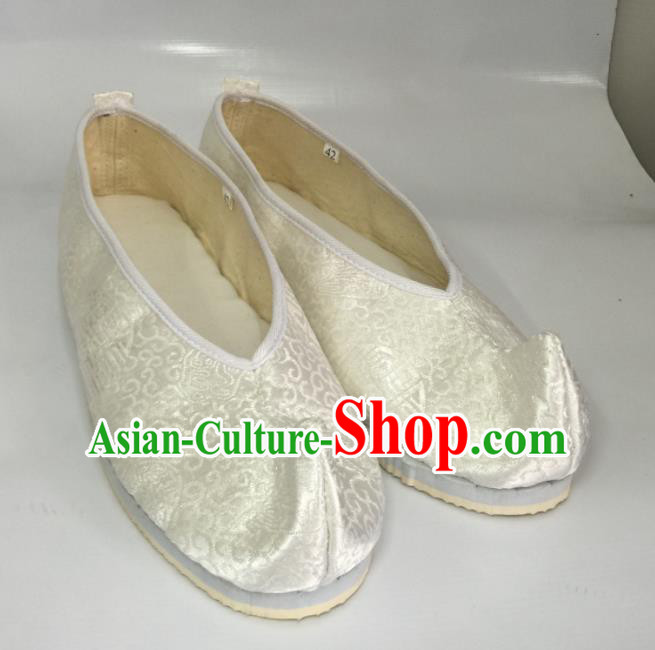 Traditional Chinese Shoes Ancient Princess Shoes White Satin Shoes Hanfu Shoes for Women