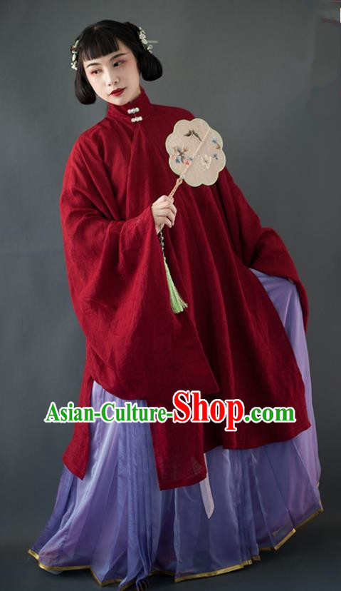 Chinese Ancient Nobility Lady Hanfu Dress Traditional Ming Dynasty Historical Costumes Complete Set for Women