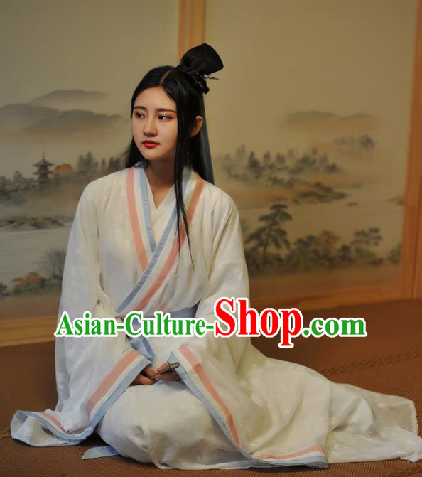Chinese Traditional Han Dynasty Aristocratic Lady Historical Costumes Ancient Peri Hanfu Dress for Women