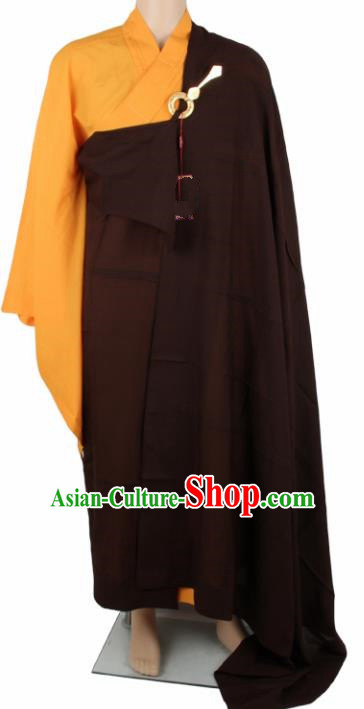 Chinese Traditional Buddhist Monk Clothing Arhat Cassock Buddhism Monks Costumes for Men
