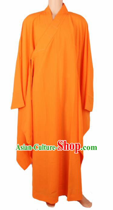 Chinese Traditional Buddhist Monk Costumes Buddhism Monks Orange Robe for Men