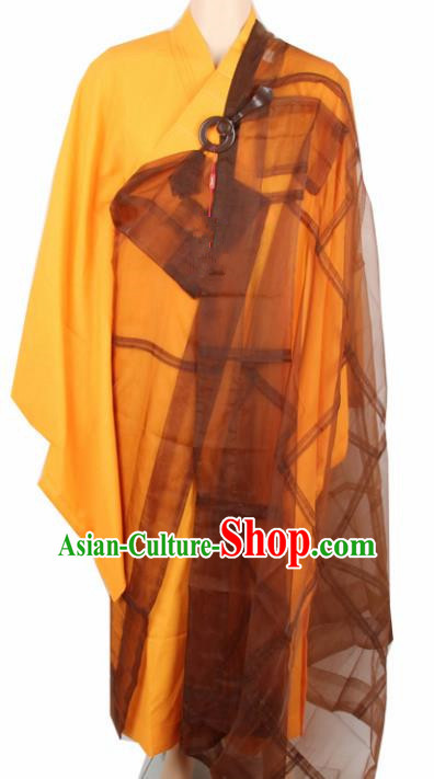 Chinese Traditional Buddhist Silk Cassock Monk Costumes Buddhism Dharma Assembly Monks Clothing for Men