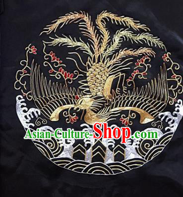 Chinese Traditional Embroidery Craft Embroidered Phoenix Patches Embroidering Accessories