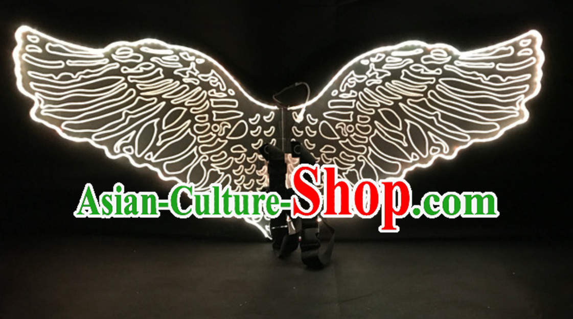 LED Lights Luminous Big Wings Butterfly Dance Costumes Dancing Costume Complete Set