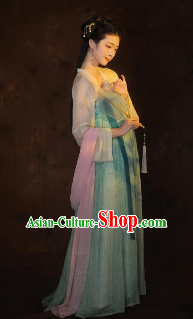 Chinese Traditional Tang Dynasty Imperial Consort Historical Costumes Ancient Palace Hanfu Dress Complete Set for Women