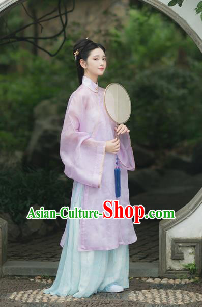 Chinese Traditional Ming Dynasty Palace Lady Hanfu Dress Ancient Princess Historical Costumes for Women