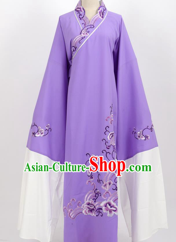 Professional Chinese Traditional Beijing Opera Niche Purple Robe Ancient Scholar Costume for Men