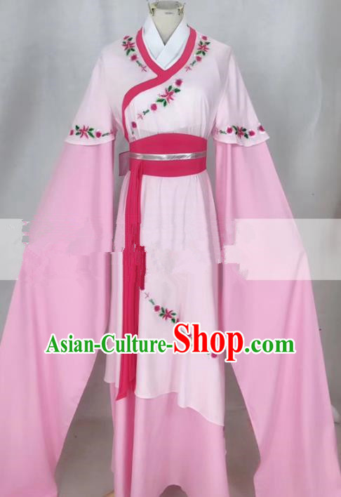 Professional Chinese Traditional Beijing Opera Actress Pink Dress Ancient Nobility Lady Costumes for Women