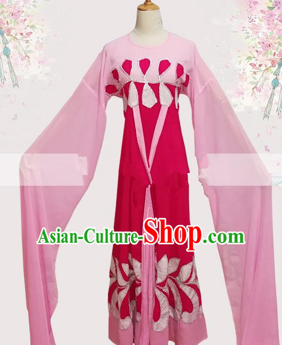 Professional Chinese Traditional Beijing Opera Young Lady Pink Dress Ancient Court Maid Costume for Women