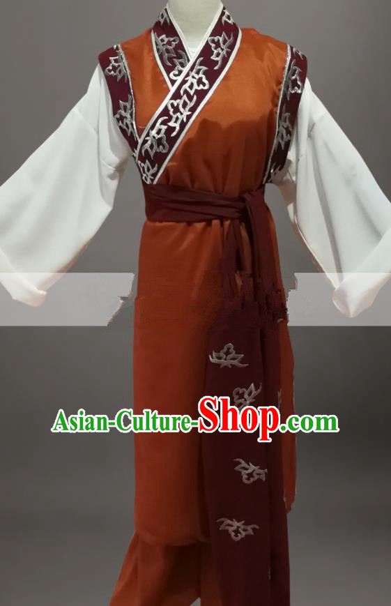 Professional Chinese Traditional Beijing Opera Old Male Brown Clothing Ancient Landlord Costume for Men