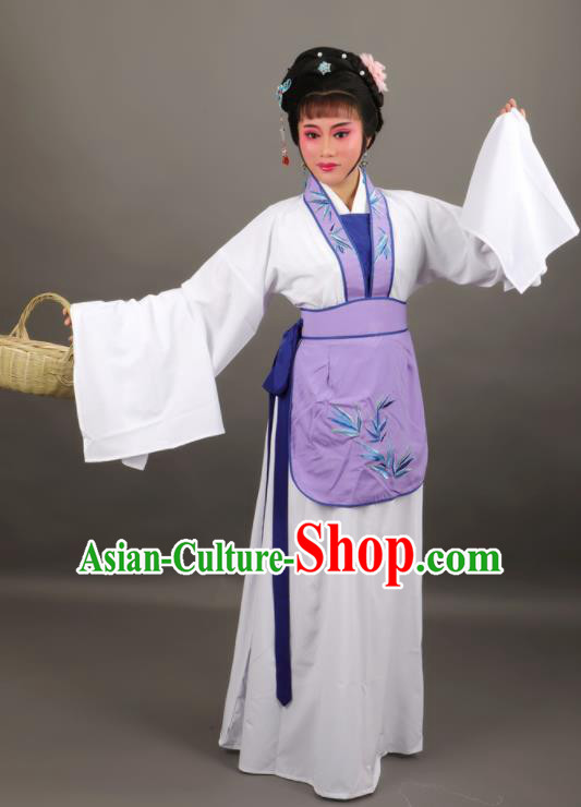 Professional Chinese Traditional Beijing Opera Maidservants Dress Ancient Country Lady Costume for Women