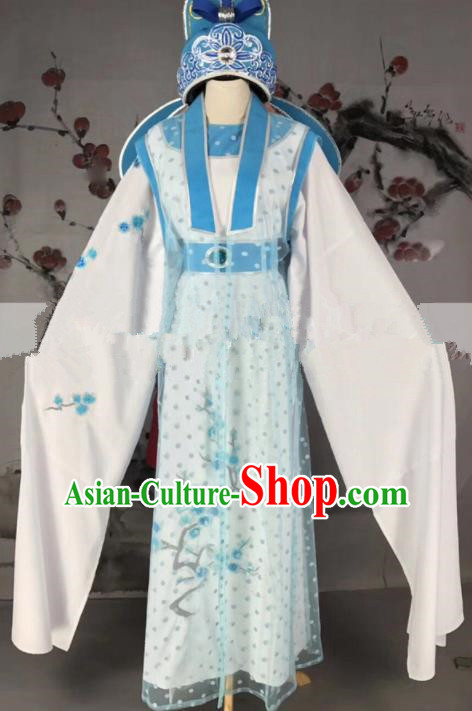 Professional Chinese Traditional Beijing Opera Niche Clothing Ancient Scholar Costume and Hat for Men
