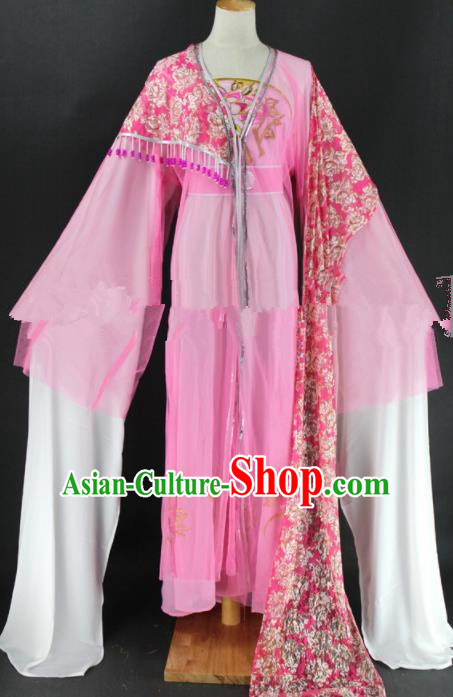 Chinese Traditional Peking Opera Diva Cui Yingying Pink Dress Ancient Rich Lady Costume for Women