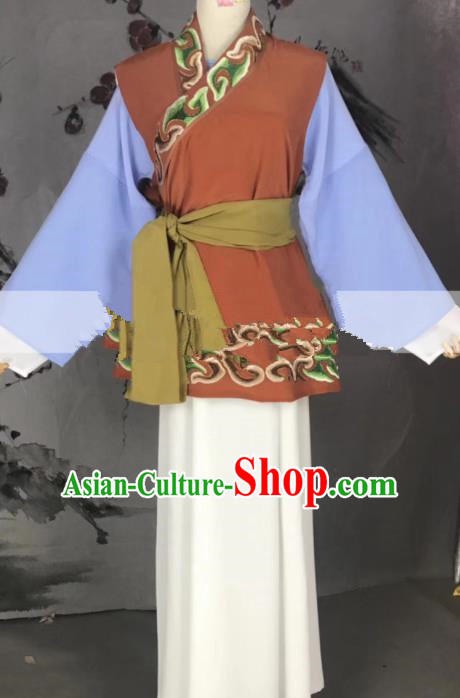 Professional Chinese Traditional Peking Opera Old Dame Dress Ancient Country Lady Costume for Women