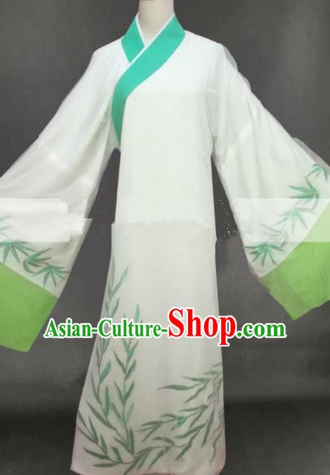 Professional Chinese Traditional Beijing Opera Butterfly Lovers Niche White Clothing Ancient Scholar Costume for Men