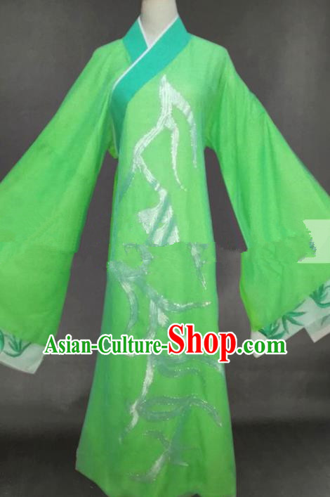 Professional Chinese Traditional Beijing Opera Butterfly Lovers Niche Green Clothing Ancient Scholar Costume for Men
